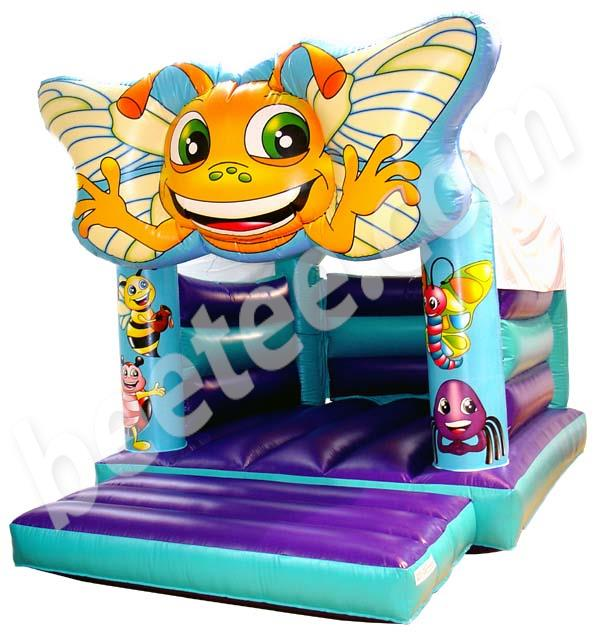 bug themed bouncy castle