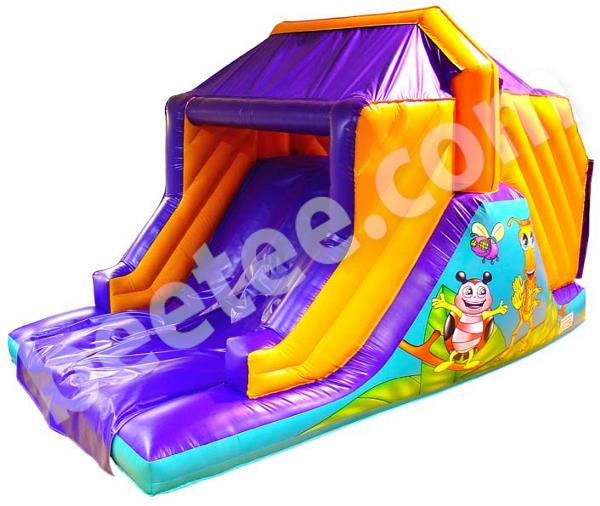 inflatable slide with bug theme