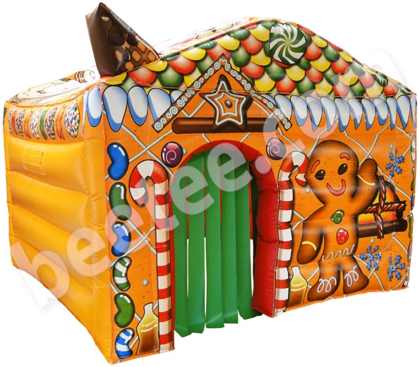 inflatable gingerbread house