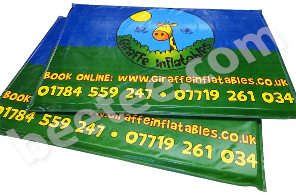 printed bouncy castle mats