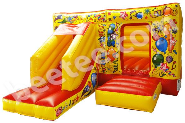low height bouncy castle with slide