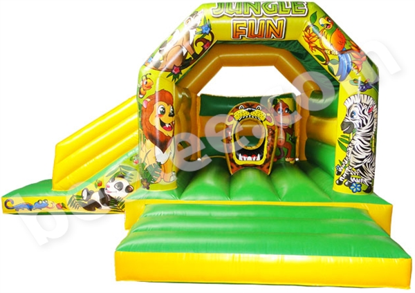 jungle bouncy castle combi