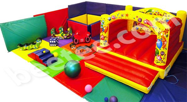 soft play area with bouncy castle