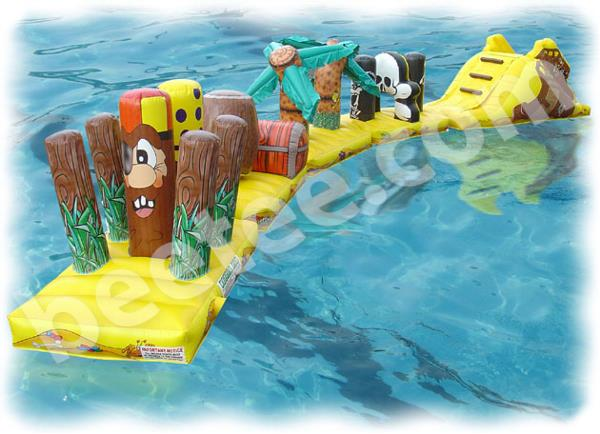 inflatable swimming pool run