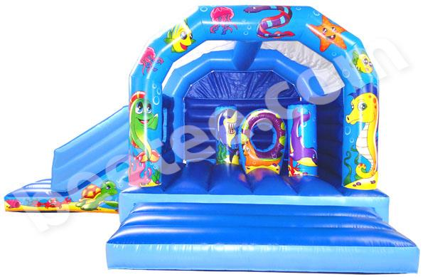 multi activity bouncy castle with slide