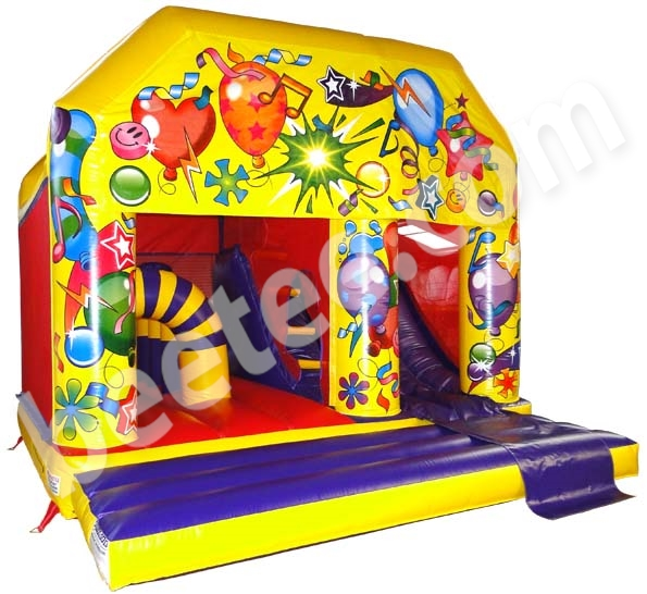 multi activity bouncy castle with internal slide