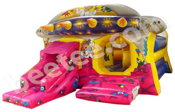 space themed bouncy castle