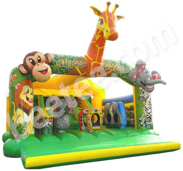 large giraffe inflatable with internal slide