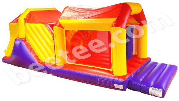 netted inflatable obstacle course