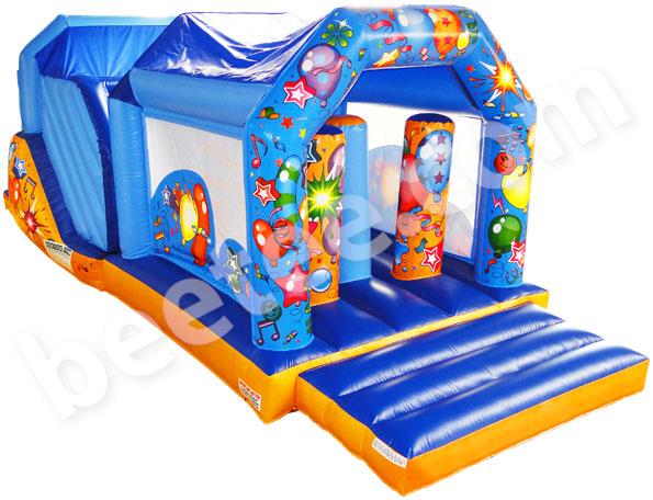 inflatable obstacle course with cover