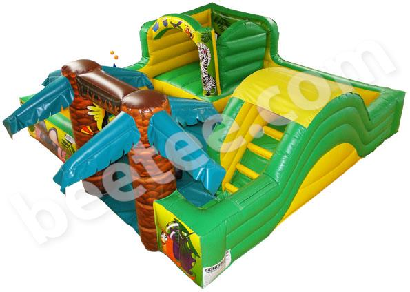 tots bouncy castle with slide