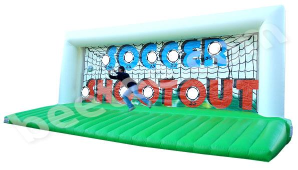 large inflatable soccer shootout
