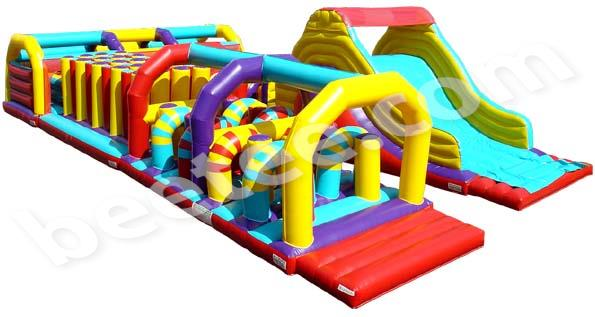 u shaped inflatable obstacle course