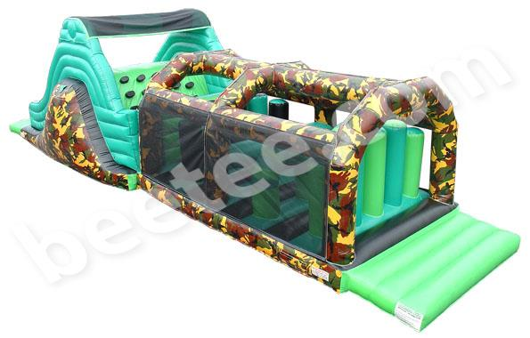 inflatable obstacle course with camouflage