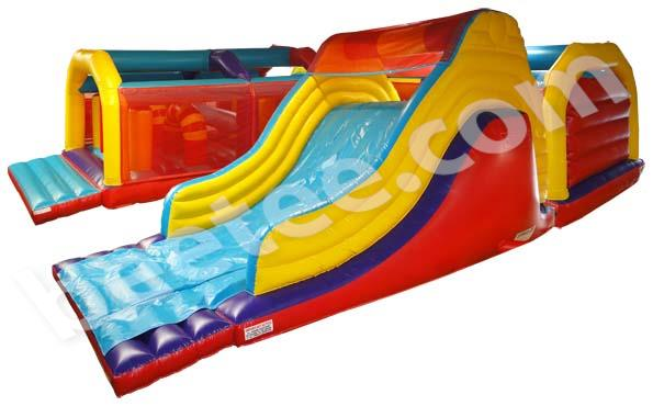 u shaped inflatable assault course